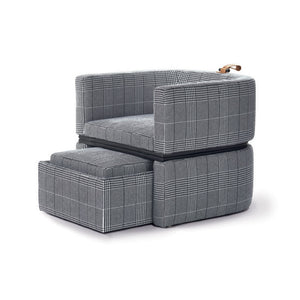 DUAL TRANSFORMABLE CHAIR WITH OTTOMAN - COFFEE TABLE