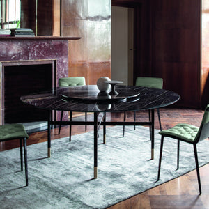 GILL ROUND TABLE - NOIR DESIR GLOSSY SUPERMARBLE