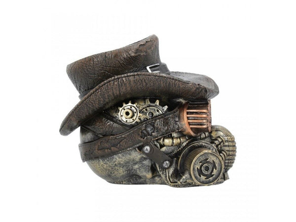 Steampunk Masked Menace Skull ornament