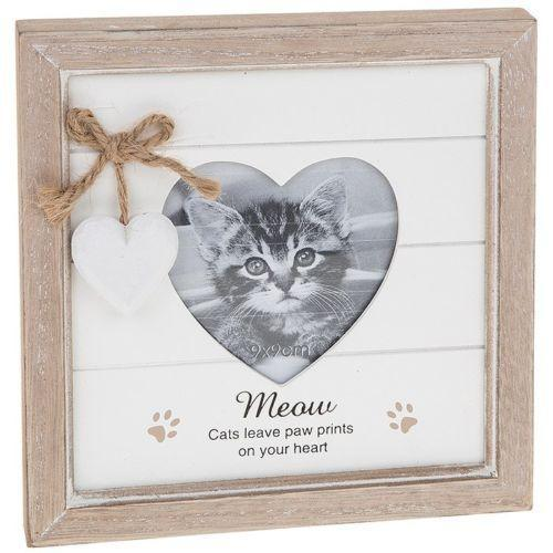 Provence Message Heart Photo Frame - Cat | Free UK Delivery