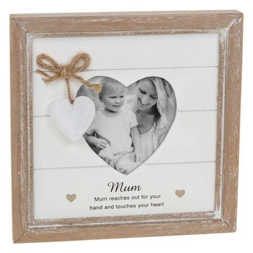 Provence Message Heart Photo Frame - Mum | Free UK Delivery