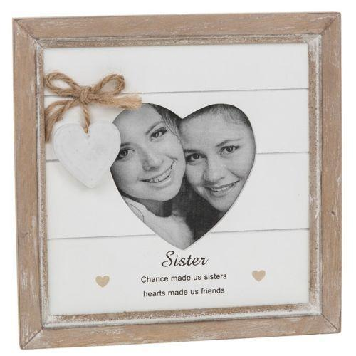 Provence Message Heart Photo Frame - Sister | Free UK Delivery