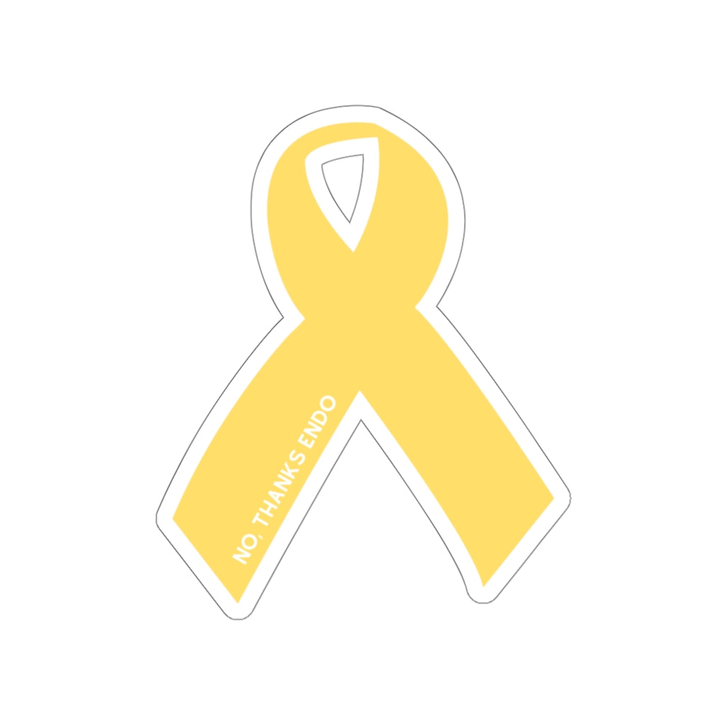 Yellow Ribbon No, Thanks Endo Sticker