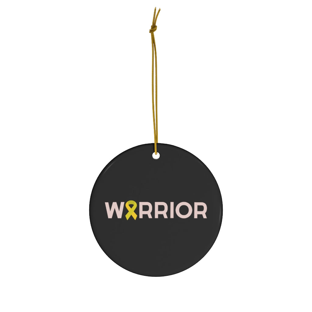 """Warrior"" Round Ceramic Ornament"