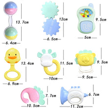 13 Pcs Safe Silicone Packages Baby Rattle Molar Plastic Ring Bed Bell - nativware.com