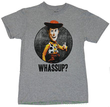 "Tshirt Homme Tees Toy Story Mens T-shirt - "" Wassup! "" Circle Woody Image ( Large ) Heather Gray - nativware.com"
