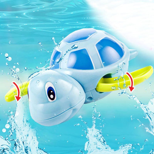 New born babies swim turtle wound-up chain bath toy jugetes - nativware.com