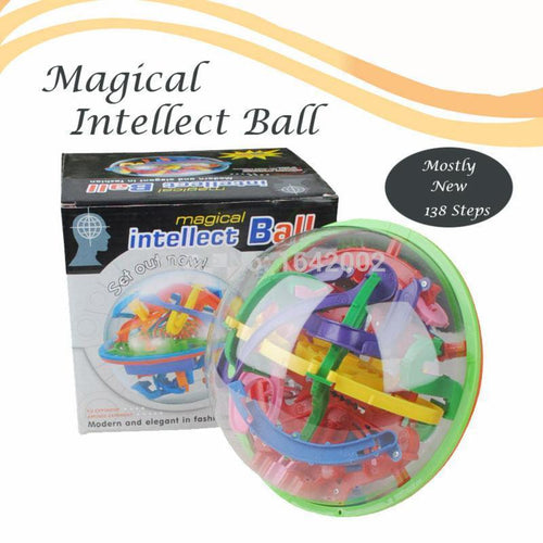 Large Educational Magic Intellect Ball Marble Puzzle Game Balance Maze Game Puzzle Toy for Kids - nativware.com
