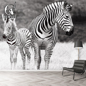 Large Mural Animal Wallpapers 3D For Living Room Bedding Room, Sofa TV Backdrop