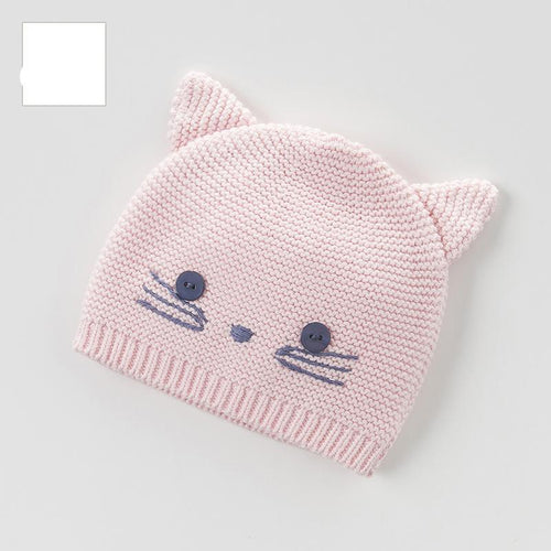 DB3945-H dave bella autumn winter baby girls pink hat cat textile hat - nativware.com