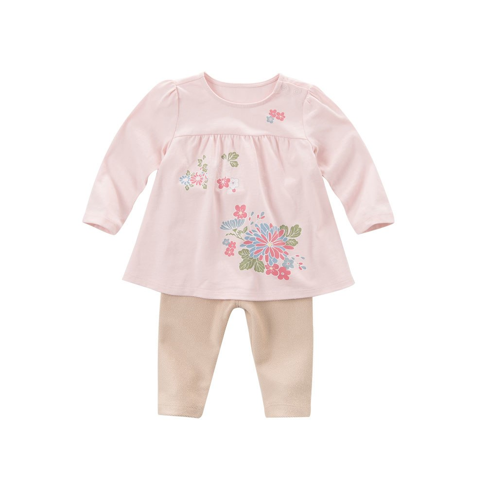 Darling baby girls light pink printed clothing sets to keep children warm. - nativware.com