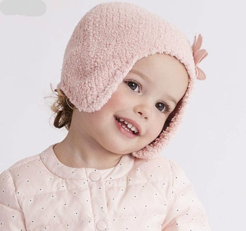 baby girls  autumn winter pink purple  hat cat textile hat - nativware.com