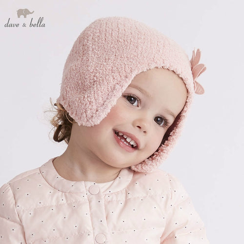 Boys and Girls pink   hat with lining navy striped - nativware.com