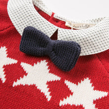 knitted sweaters for boys Christmas red children's sweaters Bella pullover - nativware.com