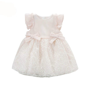 Sensational princess dress for little girls baby big bow pure yarn gala  birthday dress costumes - nativware.com