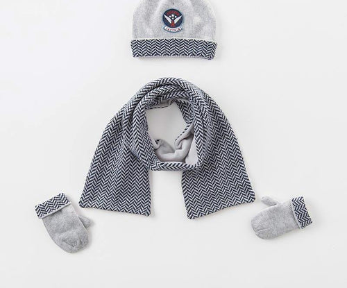 Boys  Winter knitting scarf, gloves, hat - nativware.com