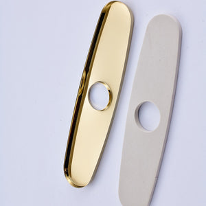 Bathroom Kitchen Faucet Sink Plate Escutcheon Deck Cover 10 inch