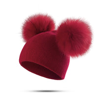Fur Pom Pom Hat Baby Boys Girls Cap - nativware.com
