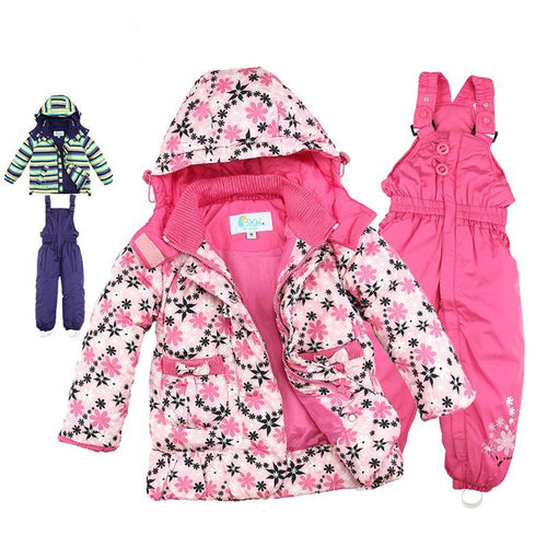 Children's Outwear Turtleneck striped and printed jackets Kids clothing boys and girls ski jacket suit - nativware.com