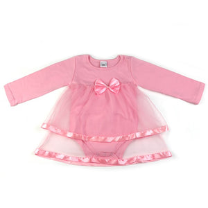 Newborn  Baby girl  dress,With Bowknot, Long sleeve