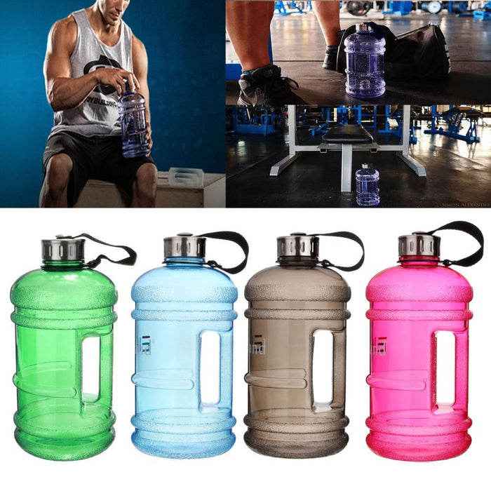 Portable 2.2L BPA Free Plastic Large Capacity Gym Sports Water Bottle