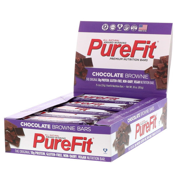 PureFit Nutrition Bars (15pcs/Box) Chocolate Brownie | Energy Bar | PureFit