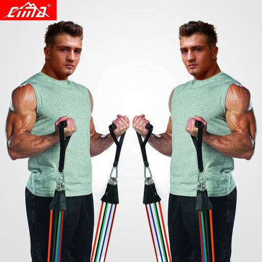 CIMA Resistance Bands 11 PCS Fitness loop ropes Tubes pull up Set Gym Equipment Exercise Handles trainer latex Yoga