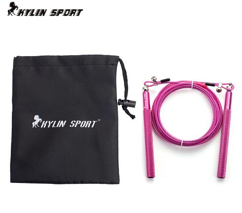 KYLIN speed rope / adjustable cross fitness speed jump rope with alumunum handle / wire length 3 meters / MMA Boxing / NPFL