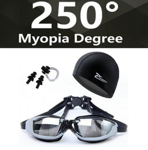 Myopia Swimming Goggles HD Shortsighted Swimming Glasses Diopter Spectacles Plating Lens Nearsighted Swim Pool Use 3pcs/set