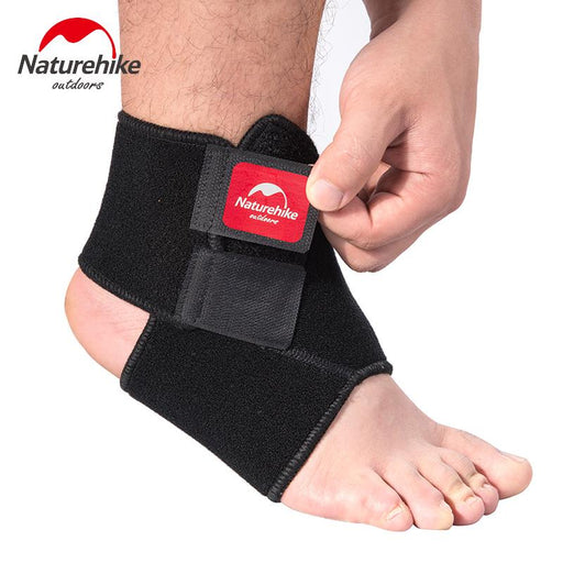 Naturehike Black Adjustable Ankle Support Pad Protection Elastic Brace Guard Support Ball Games Running Safety Gym Fitness 1Pcs