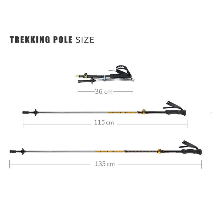 Naturehike Hiking Walking Stick 5 Section Telescopic Trekking Poles