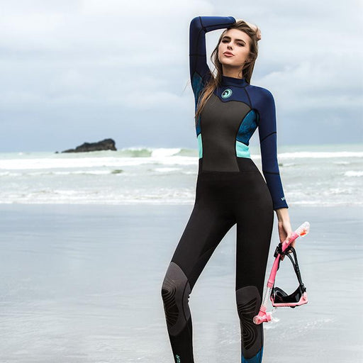 1.5mm Long Sleeves One Pieces Neoprene Slim Women Scuba Diving Suits Bodysuits Wetsuits Snorkeling Surfing Rash Guards