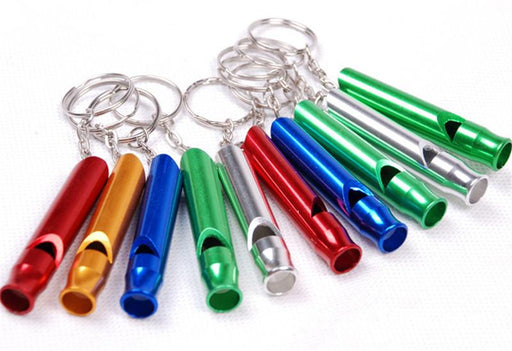 1Pcs Aluminum Emergency Survival Whistle Keychain  Outdoor Sport Tools Multifunctiona Training