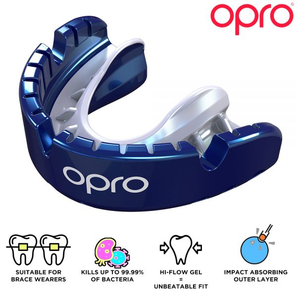 Opro Gold Braces Mouthguard (Adult 10+) | Mouthguard | OproShield