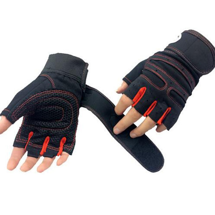 Men Women Half Finger Fitness Gloves Weight Lifting Gloves