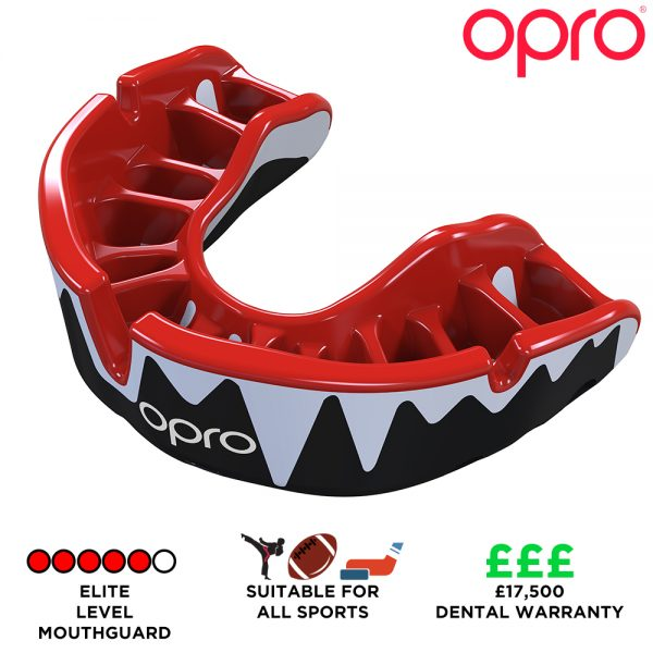 Opro Platinum Fangz Mouthguard (Adult 10+) | Mouthguard | OproShield