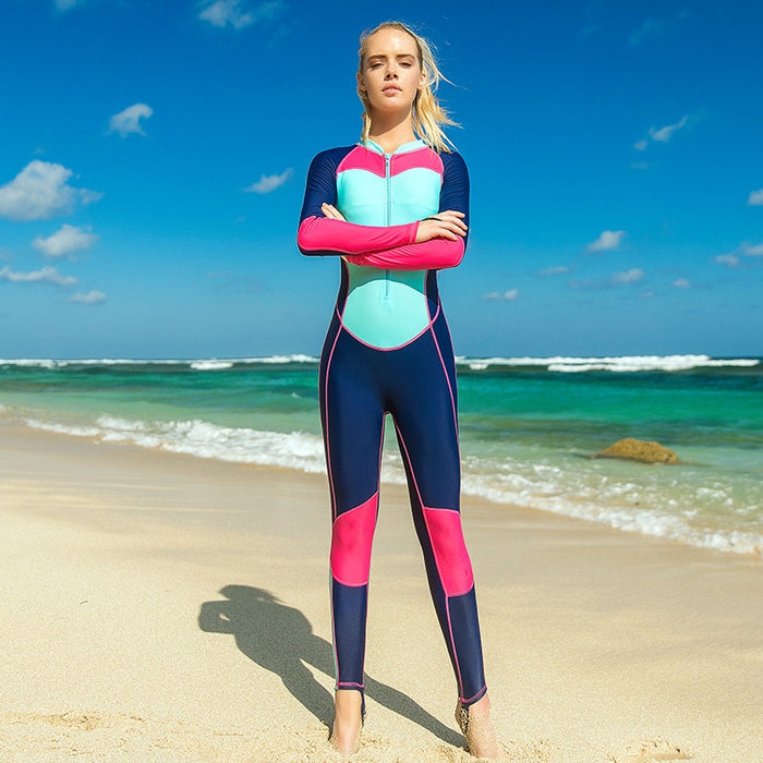 Sbart Thin Stretchy One Piece Rash Guards Women Long Sleeve