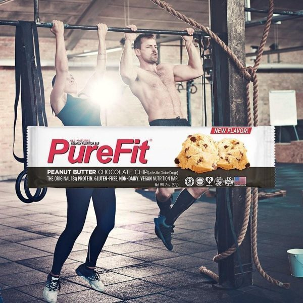PureFit Nutrition Bars (15pcs/Box) Peanut Butter Chocolate Chip | Energy Bar | PureFit