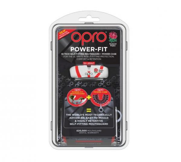 Opro Power-Fit England Rugby (Adult 10+) | Mouthguard | OproShield