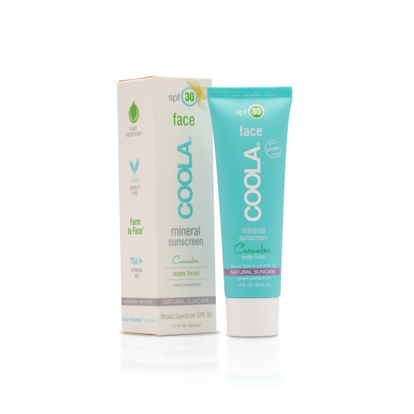 Coola Moisturizing Face SPF 30 Organic Sunscreen Lotion Cucumber (50ml) | Skin Care | Coola