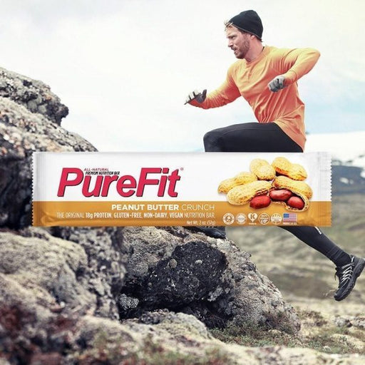 PureFit Nutrition Bars (15pcs/Box) Peanut Butter Crunch | Energy Bar | PureFit