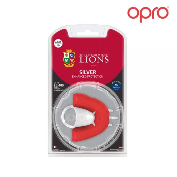 Opro Silver British & Irish Lions Mouthguard (Adult 10+) | Mouthguard | OproShield
