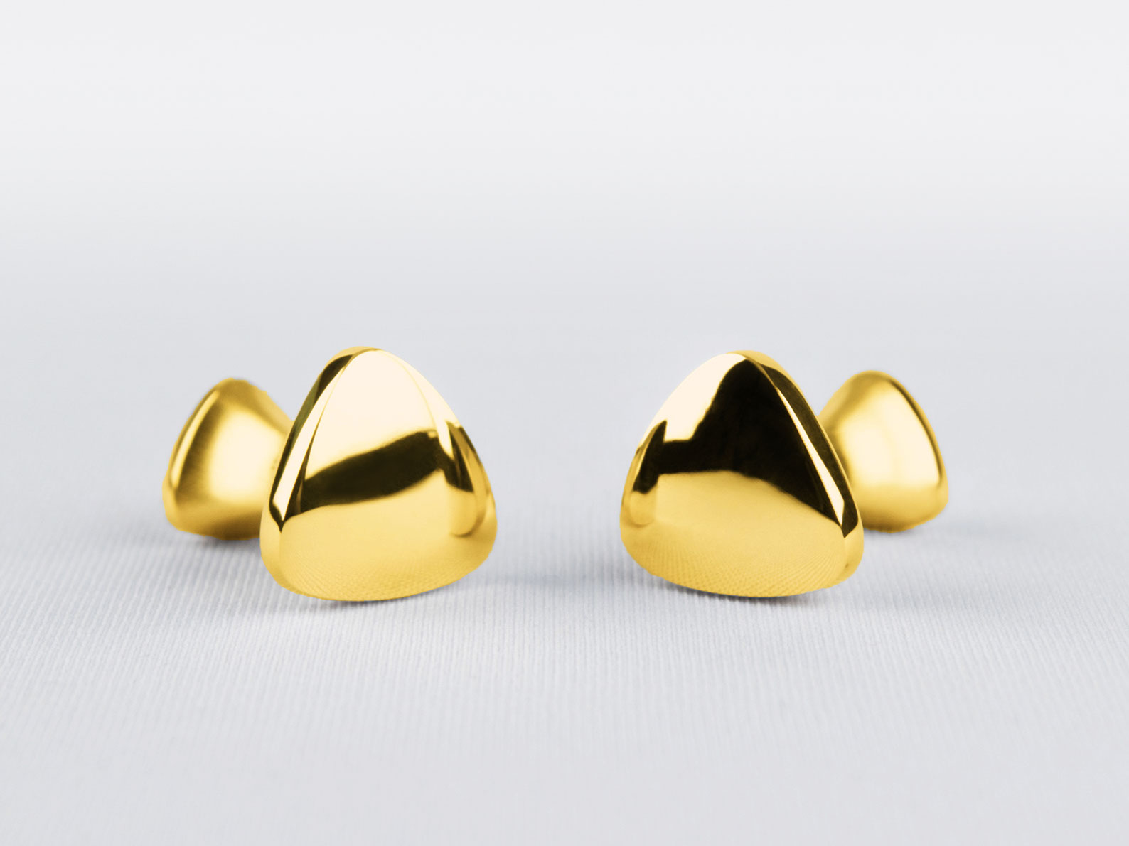 SANKAKU — CUFFLINKS gold