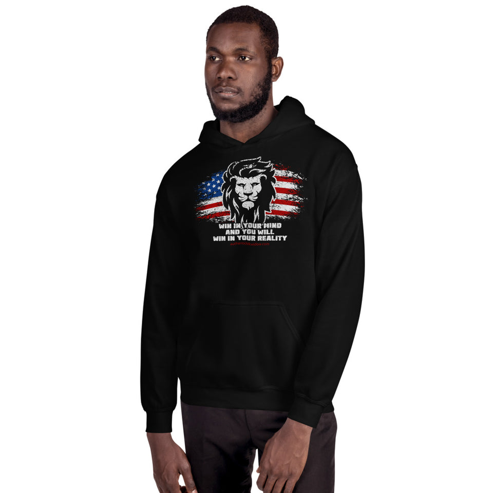 Lion Mindset Hooded Sweatshirt (USA) - Authenticblkwidow