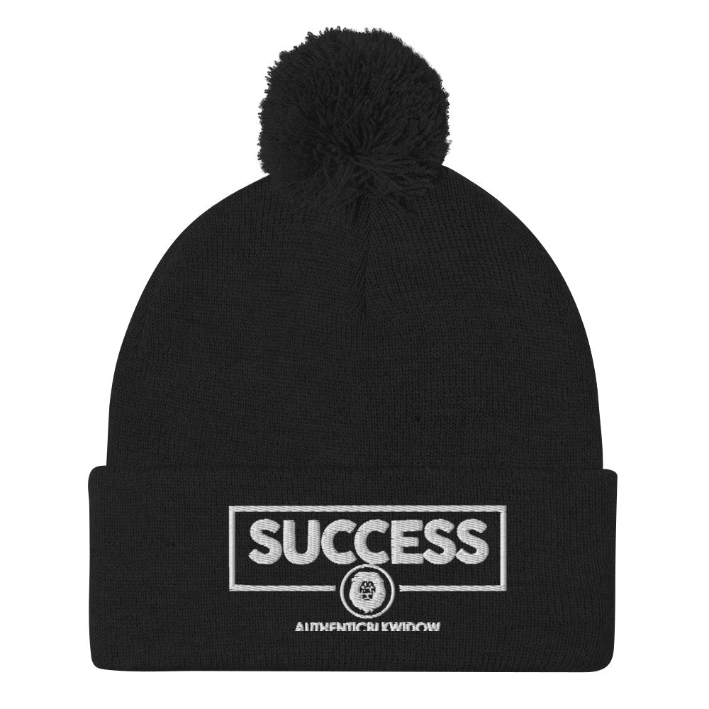 Authenticblkwidow SUCCESS Pom-Pom Beanie