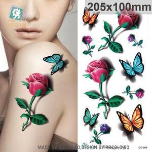 Butterfly Body Art Waterproof Temporary Tattoo - Authenticblkwidow
