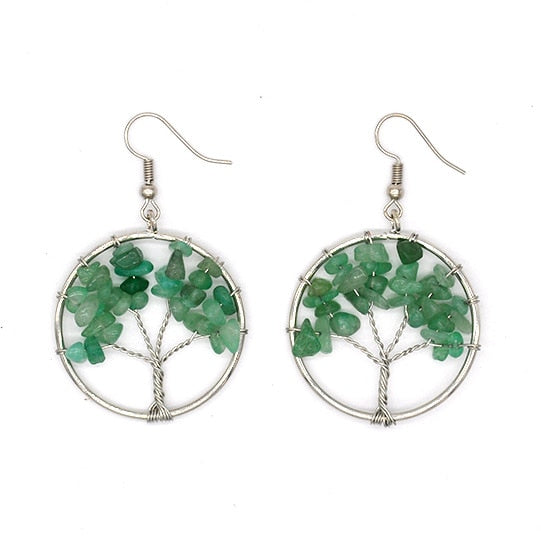 7 Chakra Tree of Life Earrings