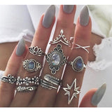 Gorgeous Bohemian Style Multi-Ring Sets - Authenticblkwidow