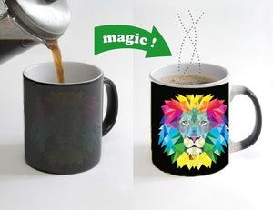 Fierce Lion Color Changing Coffee Mug