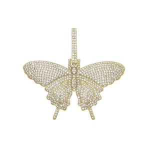 Iced Out Butterfly Necklace - Authenticblkwidow